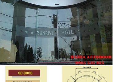 Cửa trượt cong tự động Sinil Hàn Quốc 02