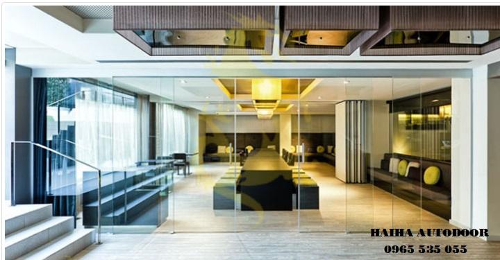 cửa trượt xếp lớp tự động Nabco Nhật Bản