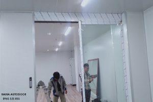 lắp đặt cửa trượt tự động tại Bắc Ninh 04
