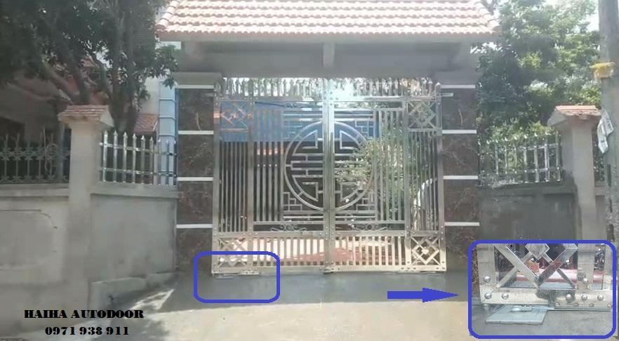 Cổng tự động âm sàn Letron Malayxia tại Vĩnh Phúc