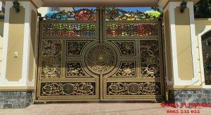 Lắp đặt cổng tự động âm sàn tại kđt Nam Đầm Vạc Vĩnh Phúc