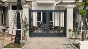 Cổng tự động âm sàn và cổng trượt tự động tại Hà Nội 02