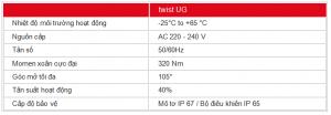 thông số kỹ thuật cổng âm sàn TWIST UG