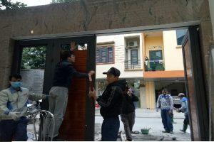 lắp đặt cổng tự động âm sàn và cửa trượt trần tại Phú Thọ