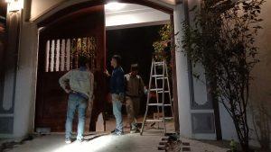 Cổng tự động âm sàn thủy lực tại Mê Linh 02